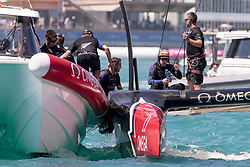June 25, 2017 - France - The Great Sound, Bermuda, 25th June 2017.Thumbs up from Emirates Team New Zealand helmsman Peter Burling after winning race eight against Oracle Team USA and going to one win away from taking the America's Cup. Day four of racing in the America's Cup presented by Louis Vuitton. (Credit Image: © Panoramic via ZUMA Press)