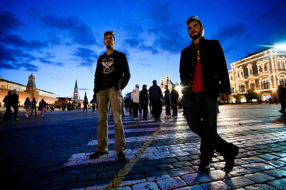 Ryan and Michael take in Moscow's Red Square.