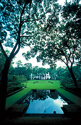Stock photo of the garden and reflecting pool at Bayou Bend Park in Houston Texas