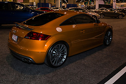 CHARLOTTE, NORTH CAROLINA - NOVEMBER 20, 2014: Audi TTS coupe on display during the 2014 Charlotte International Auto Show at the Charlotte Convention Center.