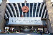 The Palacio de Cristal or Monterrey City Hall in the Macroplaza Grand Plaza adjacent to the Barrio Antiguo neighborhood of Monterrey, Nuevo Leon, Mexico.