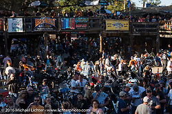 A paced Iron Horse Saloon during the Daytona Bike Week 75th Anniversary event. FL, USA. Sunday March 6, 2016.  Photography ©2016 Michael Lichter.
