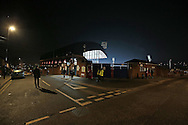 a general view from the roads surrounding Selhurst Park before tonight's game. Emirates FA Cup 3rd round replay match, Crystal Palace v Bolton Wanderers at Selhurst Park in London on Tuesday 17th January 2017.<br /> pic by John Patrick Fletcher, Andrew Orchard sports photography.