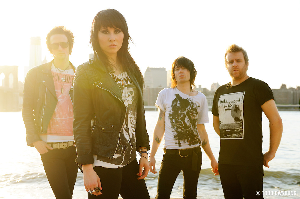 Portraits of the UK band Deluka, photographed in Brooklyn on June 20, 2010.