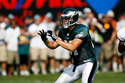 Philadelphia Eagles tight end Brent Celek #87 during the Philadelphia Eagles NFL training camp in Bethlehem, Pennsylvania at Lehigh University on Saturday August 8th 2009. (Photo by Brian Garfinkel)