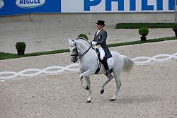 Munoz Diaz Juan Manuel (ESP) - Fuego de Cardenas<br /> World Equestrian Festival, CHIO Aachen 2011<br /> © Dirk Caremans