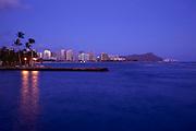 Waikiki from Kewalo Basin, Oahu, Hawaii