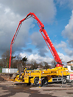 delivery of concrete to a building site