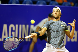 Joao Sousa from Portugal  during a tennis match against the Aljaz Bedene from Great Britain in 1st round of singles at Plava Laguna Croatia Open Umag, on July 18, 2017 in Stadium Gorana Ivanisevica, Umag, Croatia. Photo by Urban Urbanc / Sportida