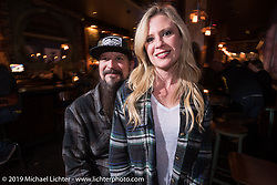 Jen and Pat Patterson of Led Sled at the Iron Horse Hotel during the Mama Tried Show weekend. Milwaukee, WI. USA. Sunday February 25, 2018. Photography ©2018 Michael Lichter.