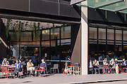 Restaurants and cafés line the streets of Barangaroo. They are situated directly under the Barangaroo Commercial Towers.Lunch time is particularly busy in this exciting new commercial hub.