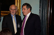 Gordon Brown and Trevor Kavanagh, Political Studies Association Awards 2004. Institute of Directors, Pall Mall. London SW1. 30 November 2004.  ONE TIME USE ONLY - DO NOT ARCHIVE  © Copyright Photograph by Dafydd Jones 66 Stockwell Park Rd. London SW9 0DA Tel 020 7733 0108 www.dafjones.com