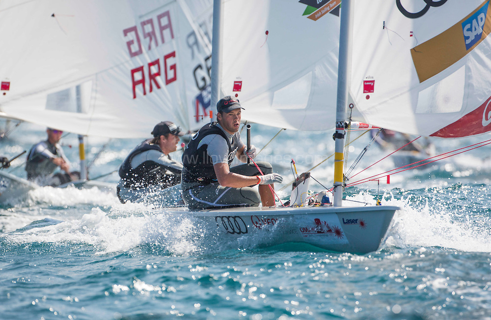 Laser World Championships 2013. Mussanah. Oman. Day 3 of racing, Philipp Buhl(GER) Credit: Lloyd Images