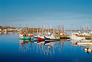 Fishing boats in harbour<br /> Goose Cove<br /> Newfoundland <br /> Canada