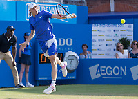 Tennis - 2017 Aegon Championships [Queen's Club Championship] - Day Three, Wednesday<br /> <br /> Men's Singles: Round of 16 _ Tomas Berdych (CZE) Vs Denis Shapovalov (CAN)<br /> <br /> Denis Shapovalov (CAN) in action on the centre court at Queens Club<br /> <br /> COLORSPORT/DANIEL BEARHAM