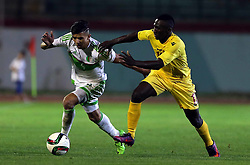 June 7, 2017 - Blida, Algiers, Algeria - Attal Youcef (L) of Algeria vies Bangoura Alkhaly (R) of Guinea during their friendly international football match between Algeria and Guinée the Mustapha Tchaker stadium in Blida on June 06, 2017. (Credit Image: © Billal Bensalem/NurPhoto via ZUMA Press)
