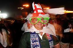12.06.2010, Royal Bafokeng Stadium, Rustenburg, RSA, FIFA WM 2010, England (ENG) vs USA (USA), im Bild Tifosi - supporters. Inghilterra. EXPA Pictures © 2010, PhotoCredit: EXPA/ InsideFoto/ Giorgio Perottino / SPORTIDA PHOTO AGENCY