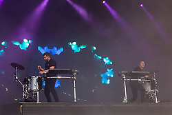 August 10, 2018 - San Francisco, California, U.S - HARRISON MILLS and CLAYTON KNIGHT of Odesza during Outside Lands Music Festival at Golden Gate Park in San Francisco, California (Credit Image: © Daniel DeSlover via ZUMA Wire)