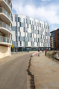 University of Suffolk building modern architecture Wet Dock waterfront, Ipswich, England, UK