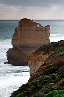 Beautiful limestone rock formations along the Great Ocean Road near the Twelve Apostles in Victoria.