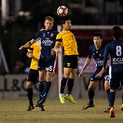BRISBANE, AUSTRALIA - JULY 1:  during the NPL Queensland Senior Men's Round 16 match between Olympic FC and Sunshine Coast Fire at Goodwin Park on July 2, 2017 in Brisbane, Australia. (Photo by Patrick Kearney/Olympic FC)