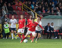 10.04.2016, Vorwärts Stadion, Steyr, AUT, UEFA Frauen EM Qualifikation, Oesterreich vs Norwegen, Gruppe 8, im Bild v.l. Viktoria Schnaderbeck (AUT) und Ada Hegerberg (NOR) // f.l.t.r. Viktoria Schnaderbeck of Austria and Ada Hegerberg of Norway during womens UEFA Euro qualifier, group 8 match between Austria and Norway at the Vorwärts Stadion in Steyr, Austria on 2016/04/10. EXPA Pictures © 2016, PhotoCredit: EXPA/ Reinhard Eisenbauer