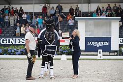 Schneider Dorothee, GER, Sezuan<br /> Final 7 years of age<br /> World Championship Young Dressage Horses <br /> Ermelo 2016<br /> © Hippo Foto - Dirk Caremans<br /> 31/07/16