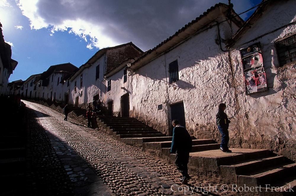 PERU, HIGHLANDS, CUZCO traditional adobe construction