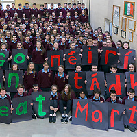 Students of St Josephs Spanish Point wish former teacher Marty Morrissey good luck in 'Dancing with the Stars'