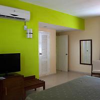 Central America, Cuba, Cienfuegos. Suite at Perla del Mar boutique hotel.
