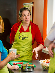 Pictured: Aileen Campbell<br /> Public Health Minister Aileen Campbell joined a class at the Pilton Community Health Project which helps families gain confidence in the kitchen, ahead of the Scottish Government's consultation on its diet and obesity strategy being launched in the autumn<br /> Ger Harley | EEm 10 August  2017