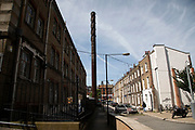 Old residential housing near to the Royal London in Whitechapel, London, United Kingdom.