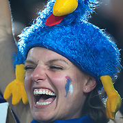 A french rugby fan during the New Zealand V France, Pool A match during the IRB Rugby World Cup tournament. Eden Park, Auckland, New Zealand, 24th September 2011. Photo Tim Clayton...