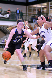 30 December 2016: Rockford Lutheran v Camp Point Central girls, State Farm Holiday Classic Coed Basketball Tournament at Shirk Center, Bloomington Illinois