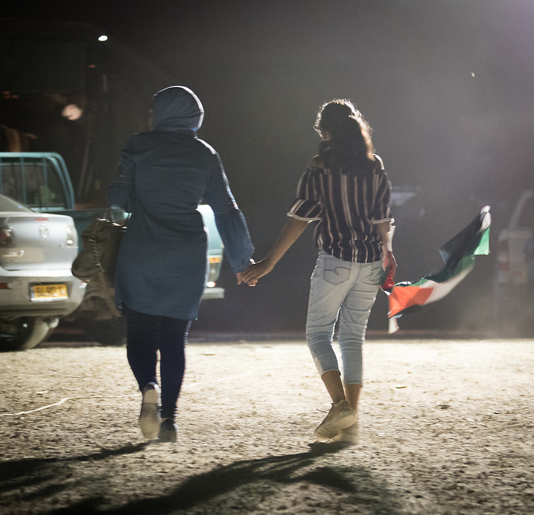 3 October 2018, Jerusalem, Occupied Palestinian Territories: In May 2018, the Israel Supreme Court approved the Israeli Defense Minister's order to demolish Khan al Ahmar. For many in Khan al Ahmar, it would not be the first time, as the village is home to a few dozen families from the Jahalin tribe, expelled from their home in the Negev to the West Bank in the 1950s. Khan al Ahmar is a Bedouin community located within the East Jerusalem Periphery, in E1 area. It is home to 32 families, 173 persons in total, including 92 children and youths. The community has a mosque and a school, which was built in 2009 and serves more than 150 children between the ages of six and fifteen, from Khan al Ahmar and other nearby communities. With due date 1 October 2018, Israeli authorities threaten to demolish the site, thereby making room for nearby Israeli settlements to expand.