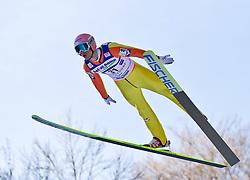 05.02.2011, Heini Klopfer Skiflugschanze, Oberstdorf, GER, FIS World Cup, Ski Jumping, Probedurchgang, im Bild Manuel Fettner (AUT) , during ski jump at the ski jumping world cup Trail round in Oberstdorf, Germany on 05/02/2011, EXPA Pictures © 2011, PhotoCredit: EXPA/ P. Rinderer