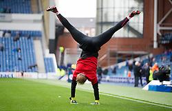 Hearts goalkeeper Zdenek Zlamal warms up during the Ladbrokes Scottish Premiership match at Ibrox Stadium, Glasgow.