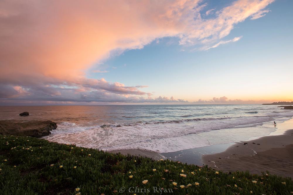"""""""Its Beach"""" at sunset, Santa Cruz, California"""