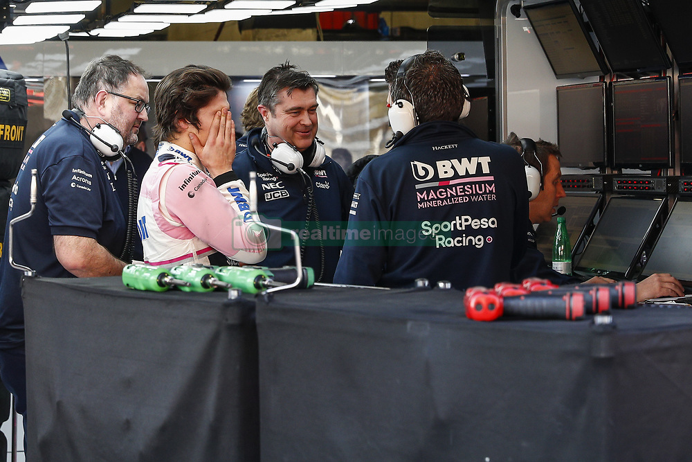 February 28, 2019 - Barcelona, Catalonia, Spain - Lance Stroll Racing Point UK incident during F1 test celebrated at Circuit of Barcelona 28th February 2019 in Barcelona, Spain. (Credit Image: © Urbanandsport/NurPhoto via ZUMA Press)