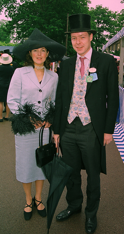 LORD (GEORGE) BINGHAM son of the missing Earl of Lucan and MISS TRINE BELL, at Royal Ascot on 18th June 1998.MIN 73