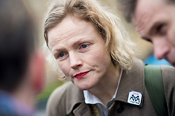 © Licensed to London News Pictures. 07/03/2014. Westminster, London, UK. Maxine Peake joins crowds of protesters at Old Palace Yard in Westminster as part of the Save UK Justice campaign against government-proposed legal aid cuts. Photo credit : David Tett/LNP