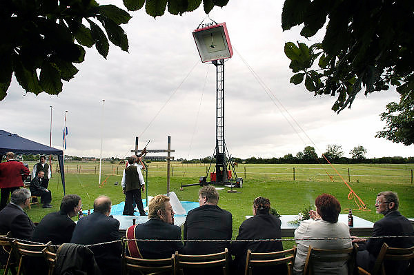 Nederland, Kekerdom, 23-8-2009Het jaarlijkse koningsschieten. Een belangrijk feest voor deze kleine gemeenschap, in de ooijpolder. Traditie, folklore, Foto: Flip Franssen/Hollandse Hoogte
