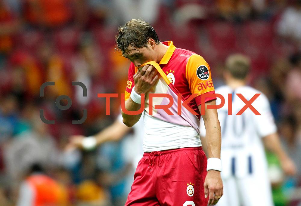 Galatasaray's Johan Elmander during their Turkish Super League soccer match Galatasaray between Kasimpasa at the TT Arena at Seyrantepe in Istanbul Turkey on Monday 20 August 2012. Photo by TURKPIX