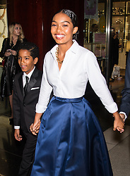 Celebrities are seen arriving at Brooks Brothers Bicentennial Celebration at Jazz At Lincoln Center in New York. 25 Apr 2018 Pictured: Ehsan Shahidi, Yara Shahidi. Photo credit: MEGA TheMegaAgency.com +1 888 505 6342