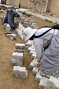 El Alto. Food for work. Women building a road.