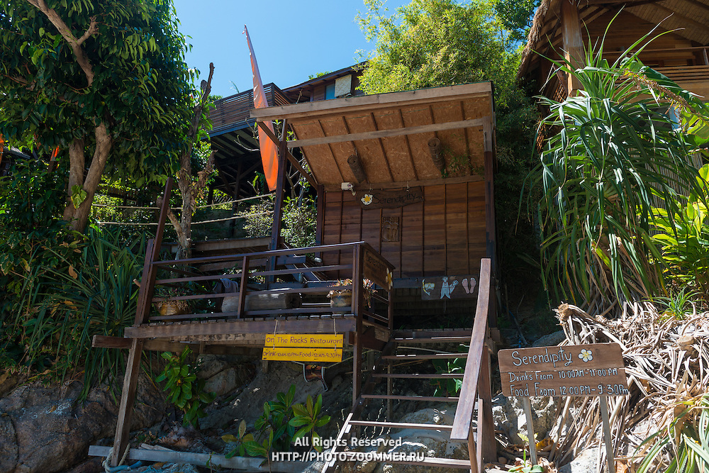 Entrance To Serendipity Resort And On The Rocks Restauran, Sunrise Beach, Ko Lipe, Thailand