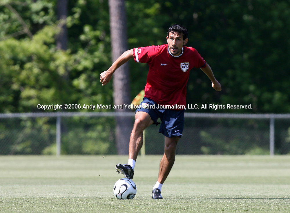 Pablo Mastroeni on Saturday, May 20th, 2006 at SAS Soccer Park in Cary, North Carolina. The United States Men's National Soccer Team held a training session as part of their preparations for the upcoming 2006 FIFA World Cup Finals being held in Germany.