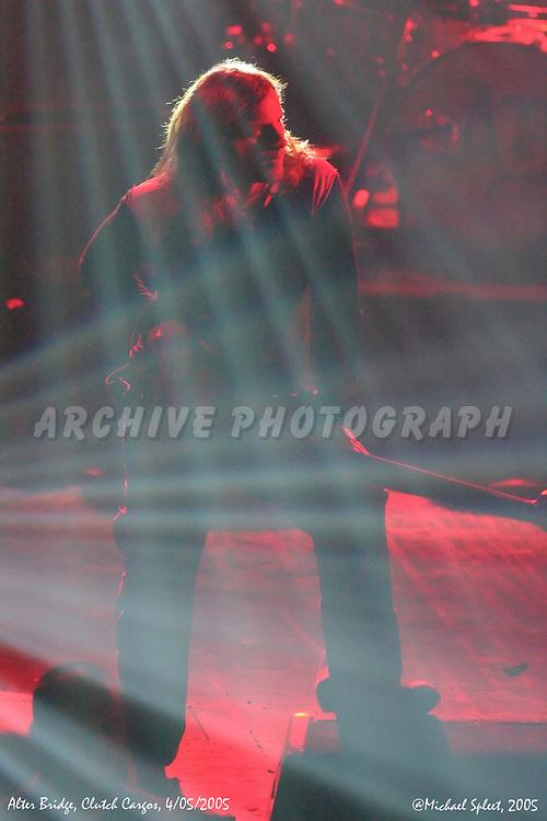 PONTIAC, MI, TUESDAY, APRIL 5, 2005 : Alter Bridge, Brian Marshall at Clutch Cargos , Pontiac, MI, 04/05/2005.  (Image Credit: Michael Spleet / 2SnapsUp Photography)