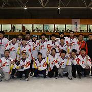The second placed China after the 2012 IIHF Ice Hockey World Championships Division 3 tournament held at Dunedin Ice Stadium. Dunedin, Otago, New Zealand. 22nd January 2012. Photo Tim Clayton