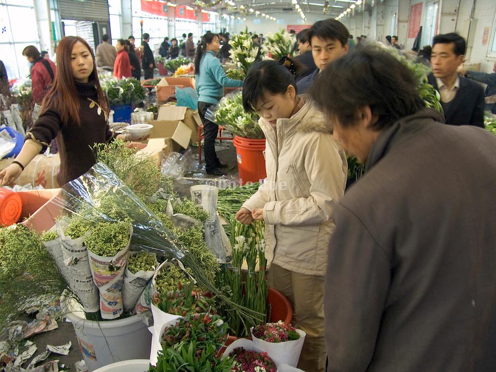 flower market Beijing China